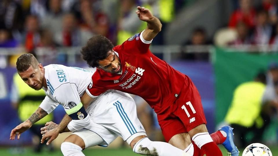 Mohamed Salah y Sergio Ramos no se olvidan de la final de 2018 | VI-Images/Getty Images