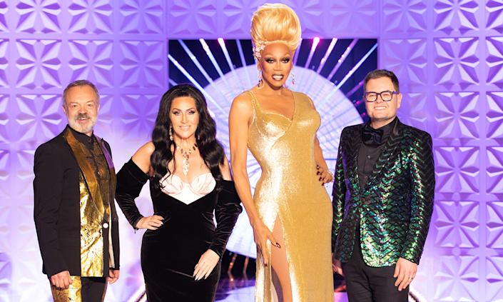 RuPaul's Drag Race UK is a nominee for The Bruce Forsyth Entertainment Award. (BBC)