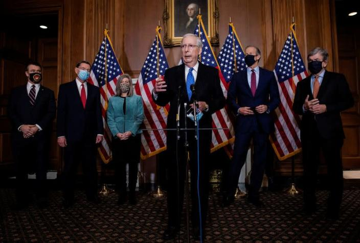 Republican leadership holds a press conference in Washington