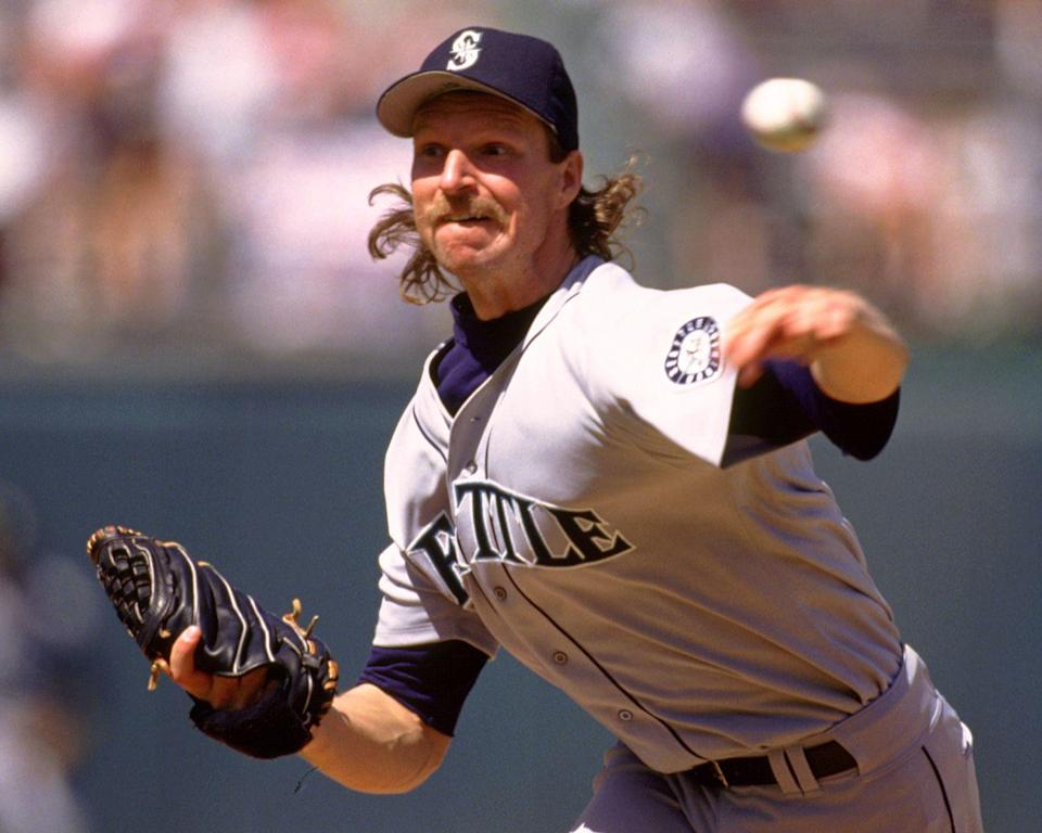 <p>What is it about famous baseball players and their equally famous stubble? Johnson's mustache never went away, whether he was off the field or throwing record-making strikeouts.</p>