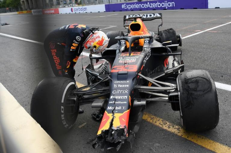 Verstappen out of luck in Baku but the Red Bull driver still leads Hamilton in world championship