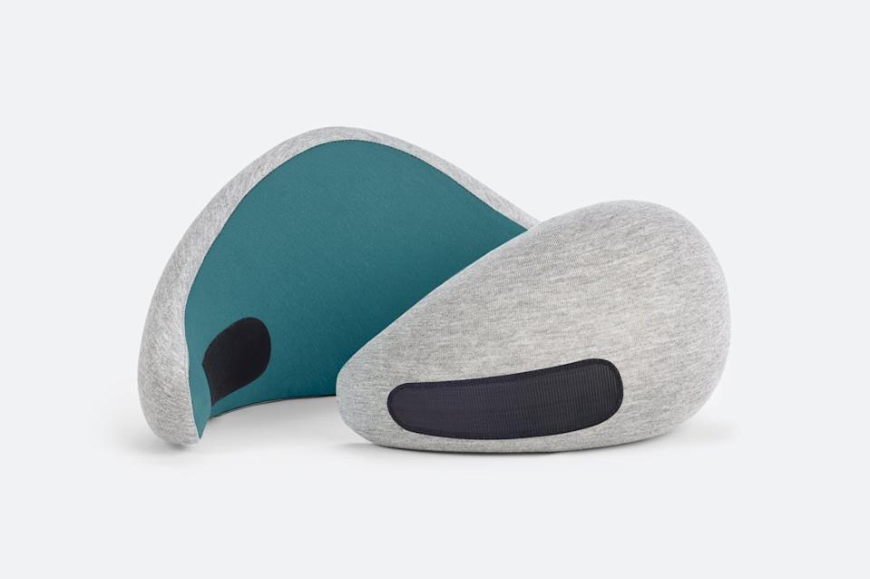 """<p>ostrichpillow.com</p><p><strong>$60.00</strong></p><p><a href=""""https://go.redirectingat.com?id=74968X1596630&url=https%3A%2F%2Fostrichpillow.com%2Fcollections%2Fall%2Fproducts%2Fgo-neck-pillow%3Fvariant%3D35866200178852&sref=https%3A%2F%2Fwww.elledecor.com%2Flife-culture%2Ftravel%2Fg36806316%2Fsummer-travel-necessities%2F"""" rel=""""nofollow noopener"""" target=""""_blank"""" data-ylk=""""slk:Shop Now"""" class=""""link rapid-noclick-resp"""">Shop Now</a></p><p>Ostrichpillow's Go pillow is made of memory foam and has 360-degree neck support, unlike regular U-shaped neck pillows. It also shrinks down by 60 percent of its size for easy packing<em>.</em></p>"""