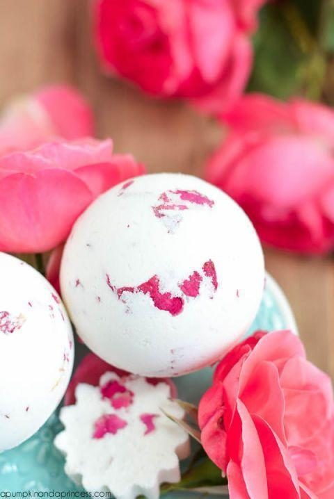 """<p>Include these DIY bath bombs in a larger spa gift basket for a winning gift. They're soothing, sweet-smelling, and so pretty.</p><p><strong>Get the tutorial at <a href=""""http://apumpkinandaprincess.com/2015/05/rose-milk-bath-bomb.html"""" rel=""""nofollow noopener"""" target=""""_blank"""" data-ylk=""""slk:A Pumpkin and A Princess"""" class=""""link rapid-noclick-resp"""">A Pumpkin and A Princess</a>.</strong></p><p><strong><a class=""""link rapid-noclick-resp"""" href=""""https://go.redirectingat.com?id=74968X1596630&url=https%3A%2F%2Fwww.walmart.com%2Fip%2FMagik-1000-5000-Pcs-Silk-Flower-Rose-Petals-Wedding-Party-Pasty-Tabel-Decorations-Various-Choices-1000-Burgundy%2F409602414&sref=https%3A%2F%2Fwww.thepioneerwoman.com%2Fholidays-celebrations%2Fgifts%2Fg32307619%2Fdiy-gifts-for-mom%2F"""" rel=""""nofollow noopener"""" target=""""_blank"""" data-ylk=""""slk:SHOP SILK ROSE PETALS"""">SHOP SILK ROSE PETALS</a><br></strong></p>"""