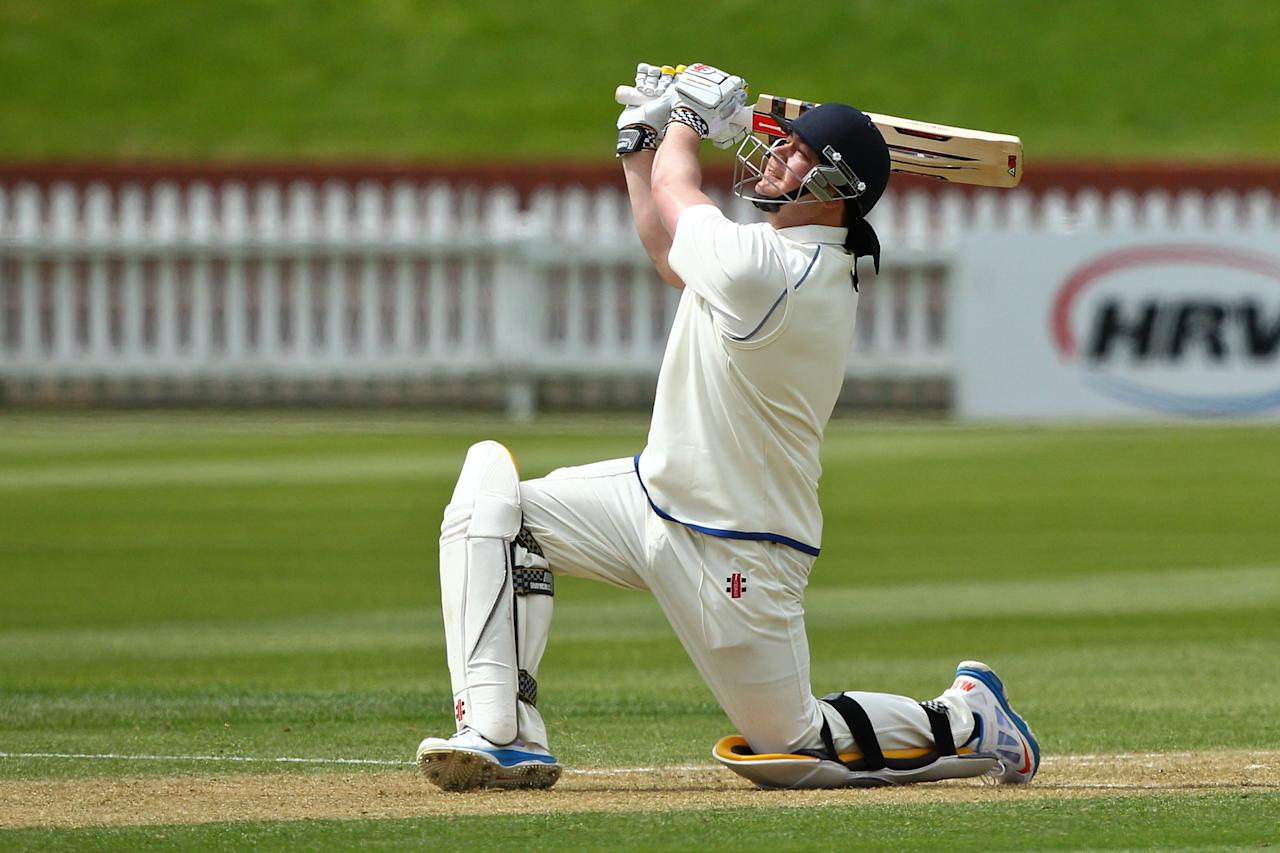 WELLINGTON, NEW ZEALAND - OCTOBER 28:  Jesse Ryder of the Volts bats during day two of the First Class match between the Wellington Firebirds and the Otago Volts at Basin Reserve on October 28, 2013 in Wellington, New Zealand.  (Photo by Hagen Hopkins/Getty Images)