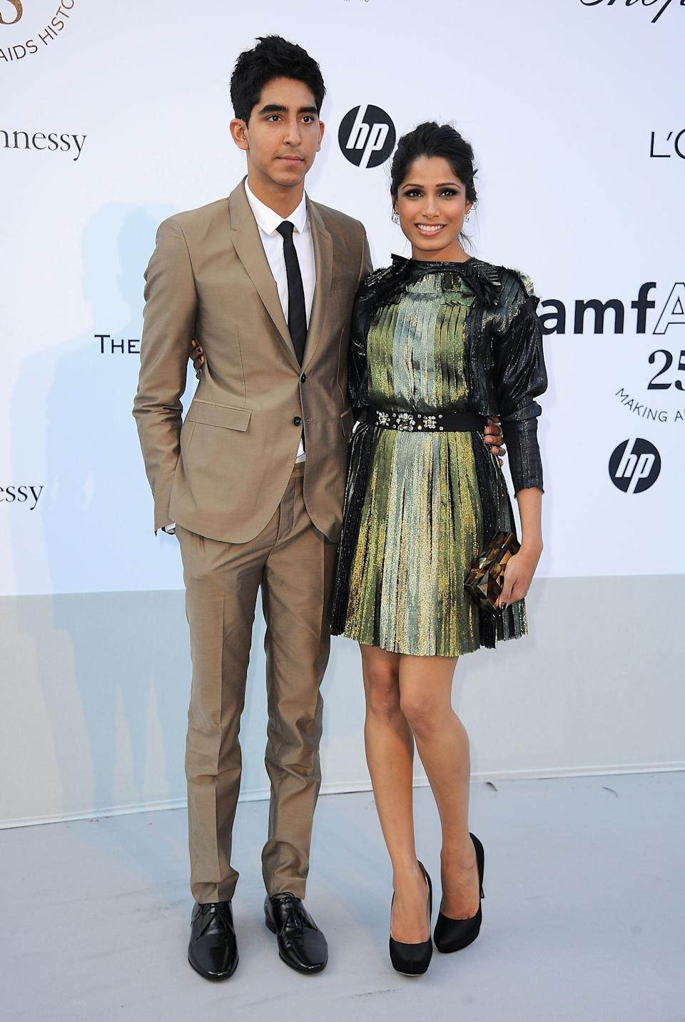 Patel and Pinto at amfAR's Cinema Against AIDS Gala during the 64th Annual Cannes Film Festival at Hotel Du Cap in Antibes, France, on May 19, 2011.