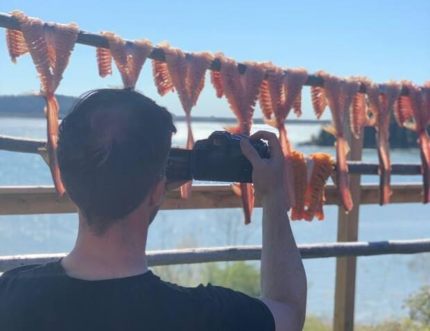 The artists went to Fort Chipewyan to take photos and video for a mural project. (Submitted by Crystal Mercredi - image credit)