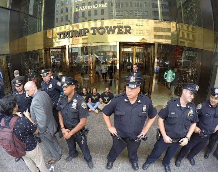 President-elect Donald Trump avoided reporters as he left Trump Tower for the first time in days. (Photo: William Edwards/AFP)