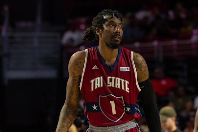 TriState player Amar'e Stoudemire during a BIG3 basketball game vs. Power on June 30, 2019 at Liacouras Center in Philadelphia. (Getty Images)