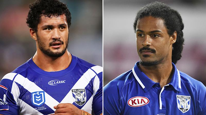 Canterbury Bulldogs players Corey Harawira-Naera and Jayden Okunbor have been sacked from the club and de-registered from the NRL. Pictures: Getty Images