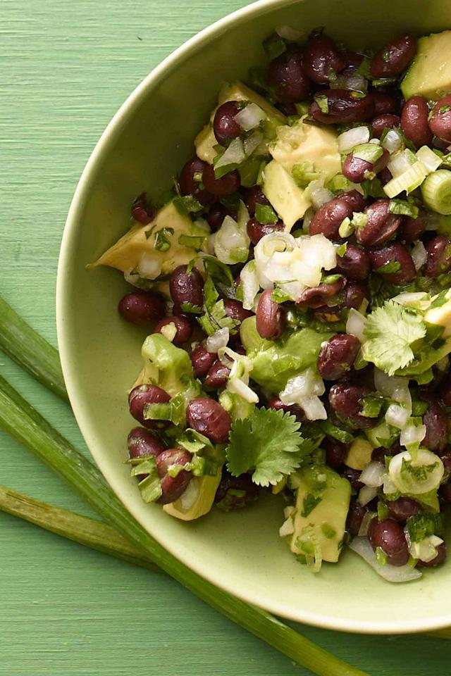 "<p>Set out a few bags of tortilla chips and a big bowl of this creamy, flavorful salad for an easy appetizer. </p><p><strong><a rel=""nofollow"" href=""https://www.womansday.com/food-recipes/food-drinks/recipes/a12282/black-bean-avocado-salsa-recipe-wdy0713/"">Get the recipe.</a></strong> </p>"