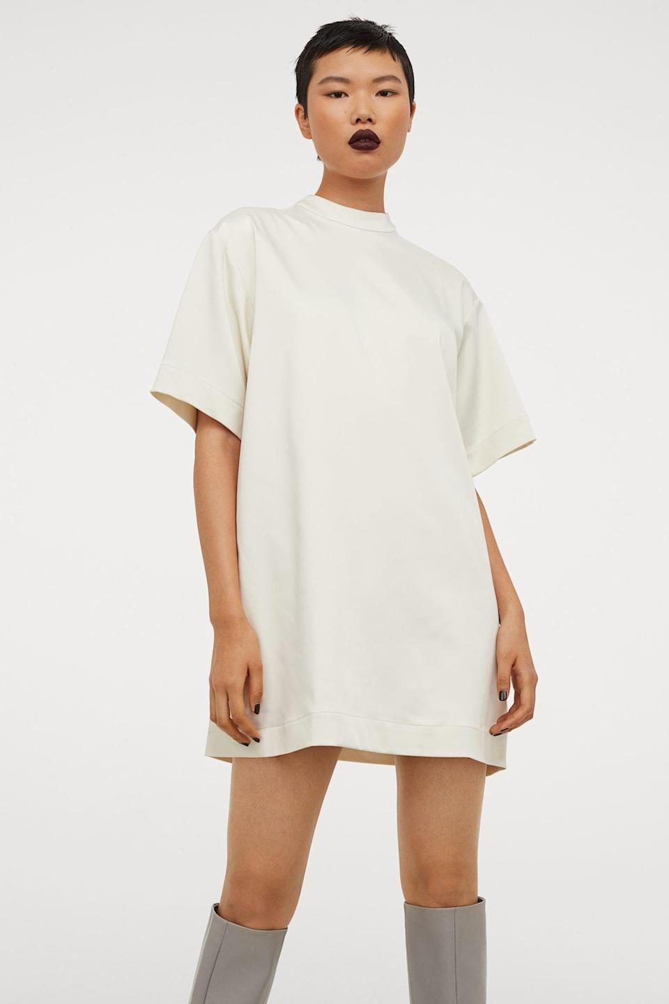 <p>Wait until you see the back of this <span>Oversized Dress</span> ($48, originally $60).</p>