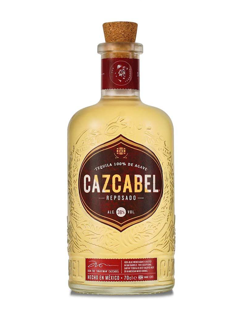 """<p><a class=""""link rapid-noclick-resp"""" href=""""https://www.amazon.co.uk/Cazcabel-Blanco-Tequila-70-cl/dp/B0751JVWYF?th=1&tag=hearstuk-yahoo-21&ascsubtag=%5Bartid%7C1923.g.35509977%5Bsrc%7Cyahoo-uk"""" rel=""""nofollow noopener"""" target=""""_blank"""" data-ylk=""""slk:SHOP"""">SHOP</a></p><p>After at least nine months in an American oak barrel – it can take longer, as the tequila's sampled throughout to make sure it tastes just right – this reposado's minerality is balanced nicely by vanilla and honey tones. </p><p>£26.44, amazon.co.uk</p>"""