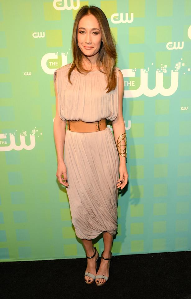 "Maggie Q (""Nikita"") attends The CW's 2012 Upfronts on May 17, 2012 in New York City."