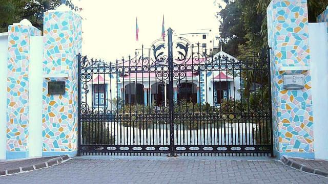 The Presidential Palace in Male is the official residence of the head of state of the Republic of Maldives. Though, unlike many other presidential governments, the building is not the president's office, His Excellency is known to host special functions for visiting heads of state here. Reconstructed on the site of the erstwhile presidential palace, the building was occupied by President Mohamed Nasheed when this picture was taken in 2010. He was ousted in an alleged coup d'état in February 2012. His Vice President Mohammed Waheed Hassan was sworn in as President in his place.
