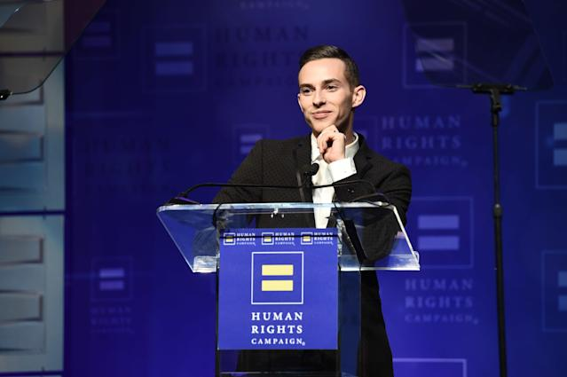 Adam Rippon has been an outspoken critic of President Donald Trump's adminstration. (AP Photo)