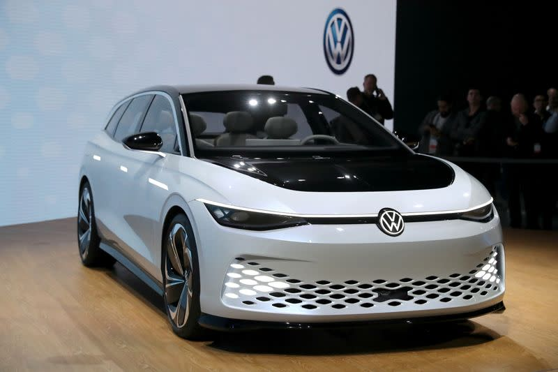 FILE PHOTO: A Volkswagen I.D. Space Vizzion concept is displayed at the LA Auto Show in Los Angeles, California, U.S