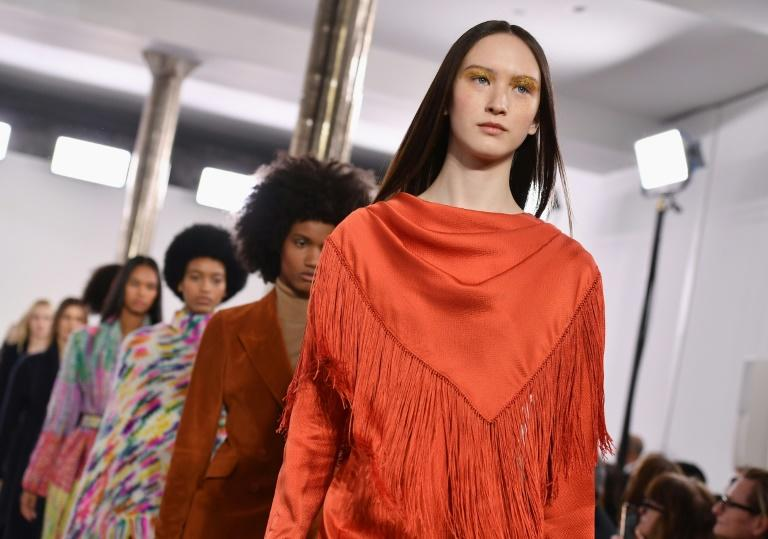 Models walk the runway for Gabriela Hearst during New York Fashion Week: The Shows on February 11, 2020 in New York City