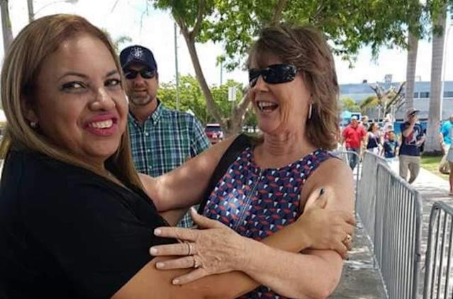 Sunday was only the second time they'd been together, the two women that raised Mauricio to be a ballplayer and a man, Sandy Ritchey and Jeannette Doblado Garcia. (Mauricio Dubon)