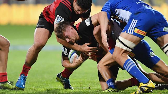 Crusaders have eight wins from eight in the 2017 Super Rugby season, with George Bridge and Kieran Read illuminating their latest victory.