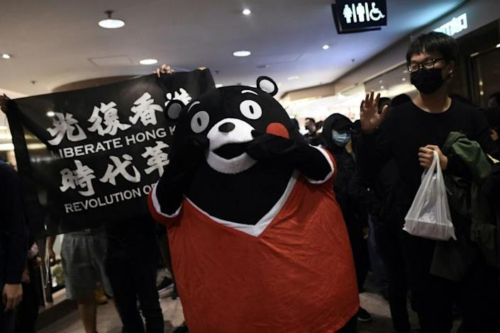 Hong Kong's many malls have become regular protest venues (AFP Photo/Philip FONG)