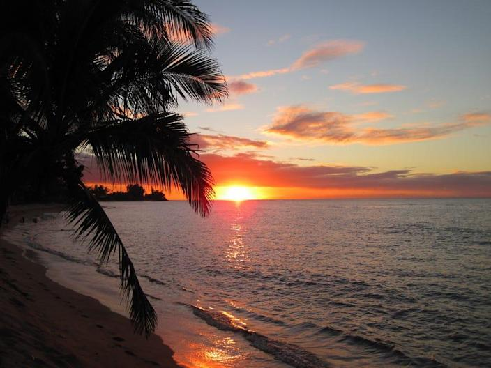 Hawaii, North Shore of Oahu, Beach, Sunset