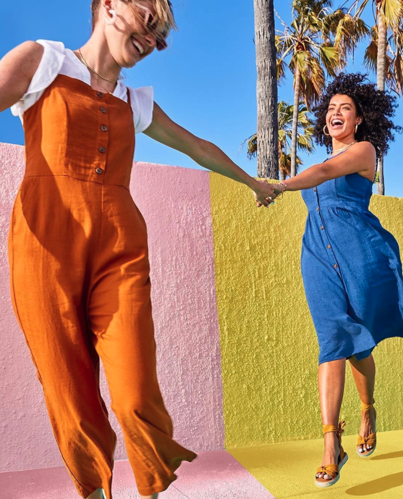 Shop 50 percent off all Old Navy dresses right now. (Photo: Old Navy Instagram)