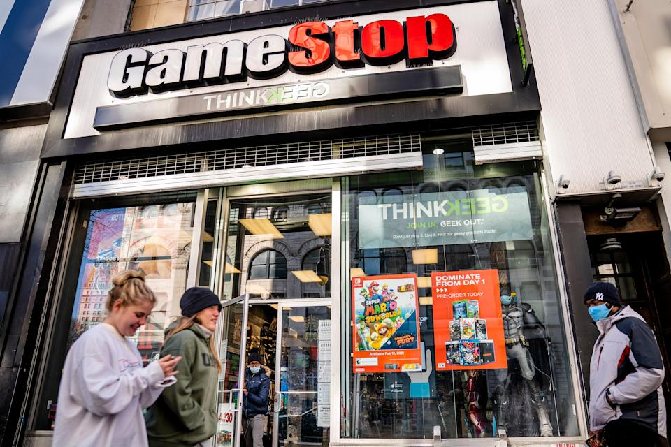 <p>File image: GameStop's shares were mostly down in February since their meteoric rise the month before</p> (AP)