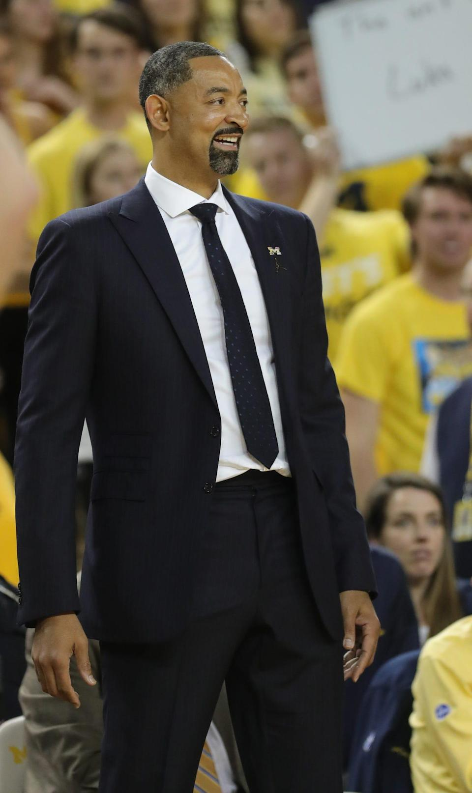 Juwan Howard during Michigan's 103-91 win over Iowa, Friday, Dec. 6, 2019 at the Crisler Center in Ann Arbor.