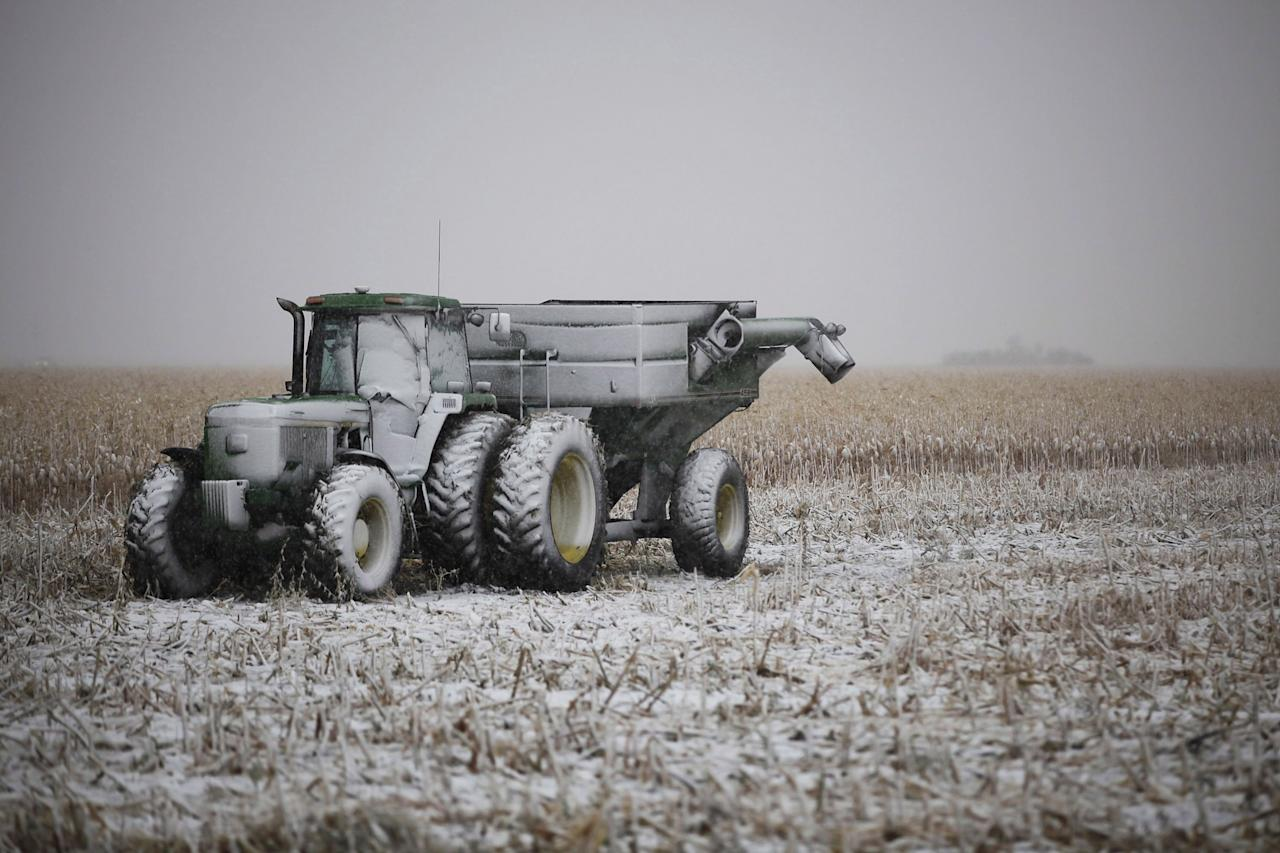 <p>No. 15: Steinbach, Man.<br />Proportion of work with the potential to be automated: 48 per cent<br />Population: 10,320<br />Farm equipment sits idle beside Highway 12 near Steinbach, Man. (THE CANADIAN PRESS/John Woods) </p>