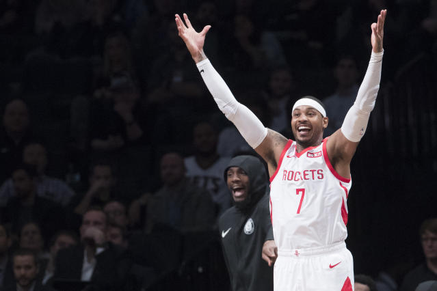 Carmelo Anthony and Enes Kanter are among the best players still available after Thursday's trade deadline. (AP/Mary Altaffer)