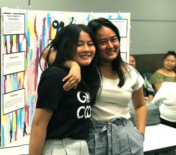 PHOTO: Phuc Bui Diem Nguyen (right) and her sister, Quynh Diem Bui Nguyen (left) at internship for Girls Who Code, San Francisco, Calif. (Courtesy Nguyen family)