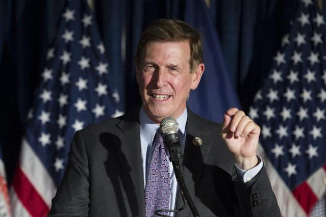 Rep. Don Beyer celebrates the Democratic Gubernatorial primary win of Virginia Lt. Gov. Ralph Northam in Crystal City, Va., in June. (Photo: Cliff Owen/AP)