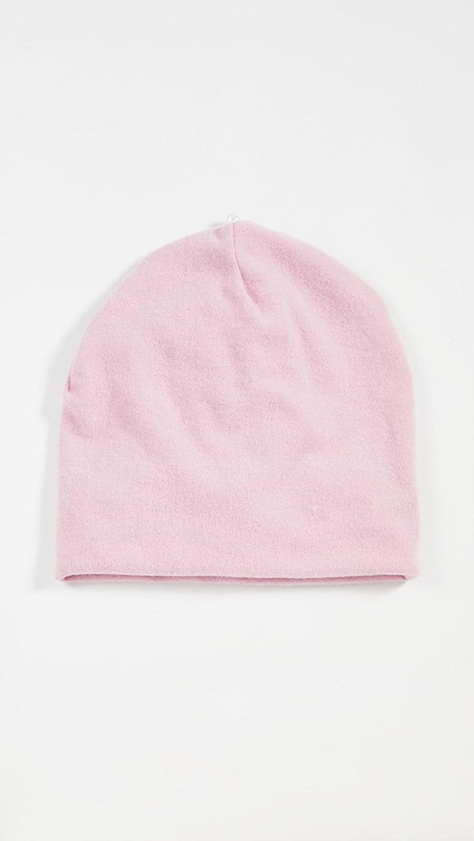 <p>Cozy up in this <span>Donni Sweater Beanie</span> ($84).</p>