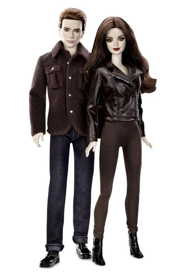 "<div class=""caption-credit""> Photo by: barbiecollector.com</div><b>""The Twilight Saga: Breaking Dawn-Part 2"" Bella and Edward gift set, launching December 1</b> <br> There are 15 dolls in the various ""Twilight"" Barbie collections, including a shirtless Jacob. This set comes out in a few days--note the creepy vampire-esque greige skintone on Bella and Edward."