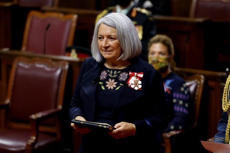 Mary Simon -- the first indigenous governor general of Canada -- being sworn-in