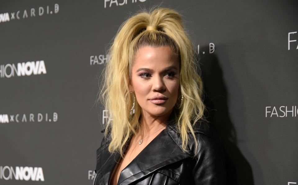 Khloe Kardashian, photographed here in 2018, had a photo shared over the weekend without her permission.