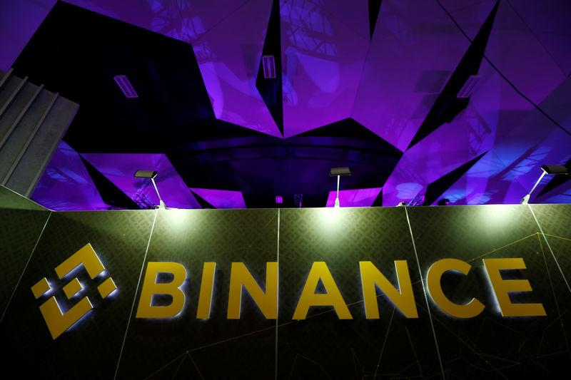 The logo of Binance is seen on their exhibition stand at the Delta Summit, Malta's official Blockchain and Digital Innovation event promoting cryptocurrency, in St Julian's