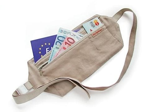 Travel money belts can store your cash and credit cards securely while making them not visible to other people