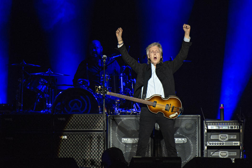 Paul McCartney performs on day one of the Austin City Limits Music Festival's second weekend on Friday, Oct. 12, 2018, in Austin, Texas. (Photo by Amy Harris/Invision/AP)