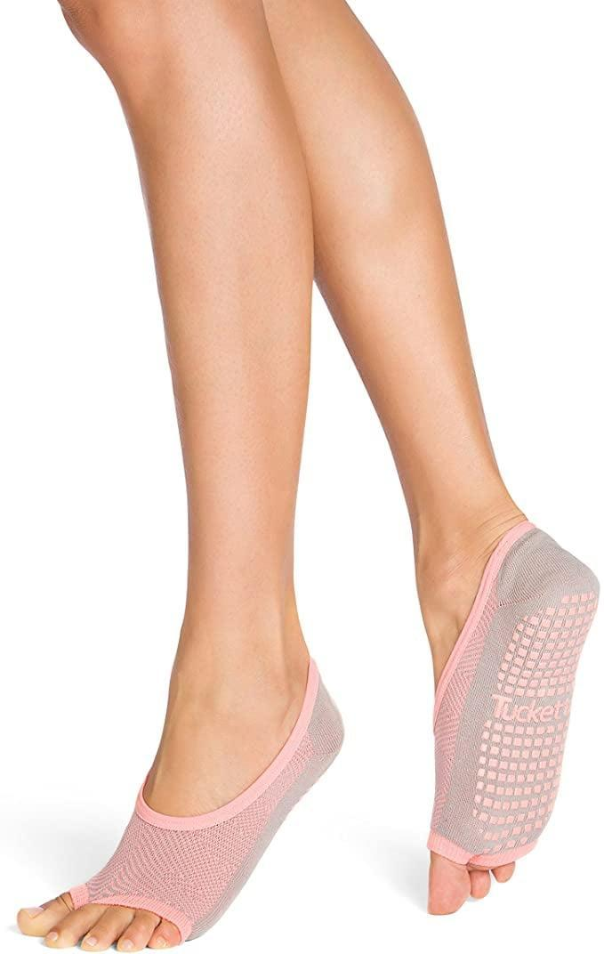 <p>These <span>Pilates Ballet Socks For Women</span> ($15) have all the essentials: a toe-free design, grips to avoid any slipping, and a stitched heel that helps the socks stay securely in place at all times. Lodwig explained that they're ideal for people who work out in warmer climates.</p>