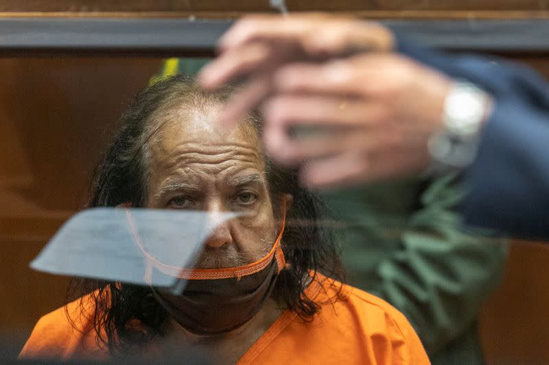 Adult film star Ron Jeremy appears in court on charges of rape, in Los Angeles