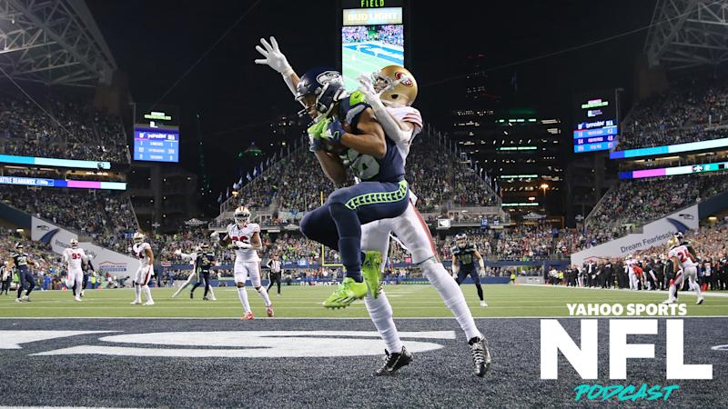 The Sunday night matchup between the Seattle Seahawks and San Francisco 49ers had about as much late-game drama as one could possibly handle and its result sent ripples through the playoff seeding. (Photo by Abbie Parr/Getty Images)