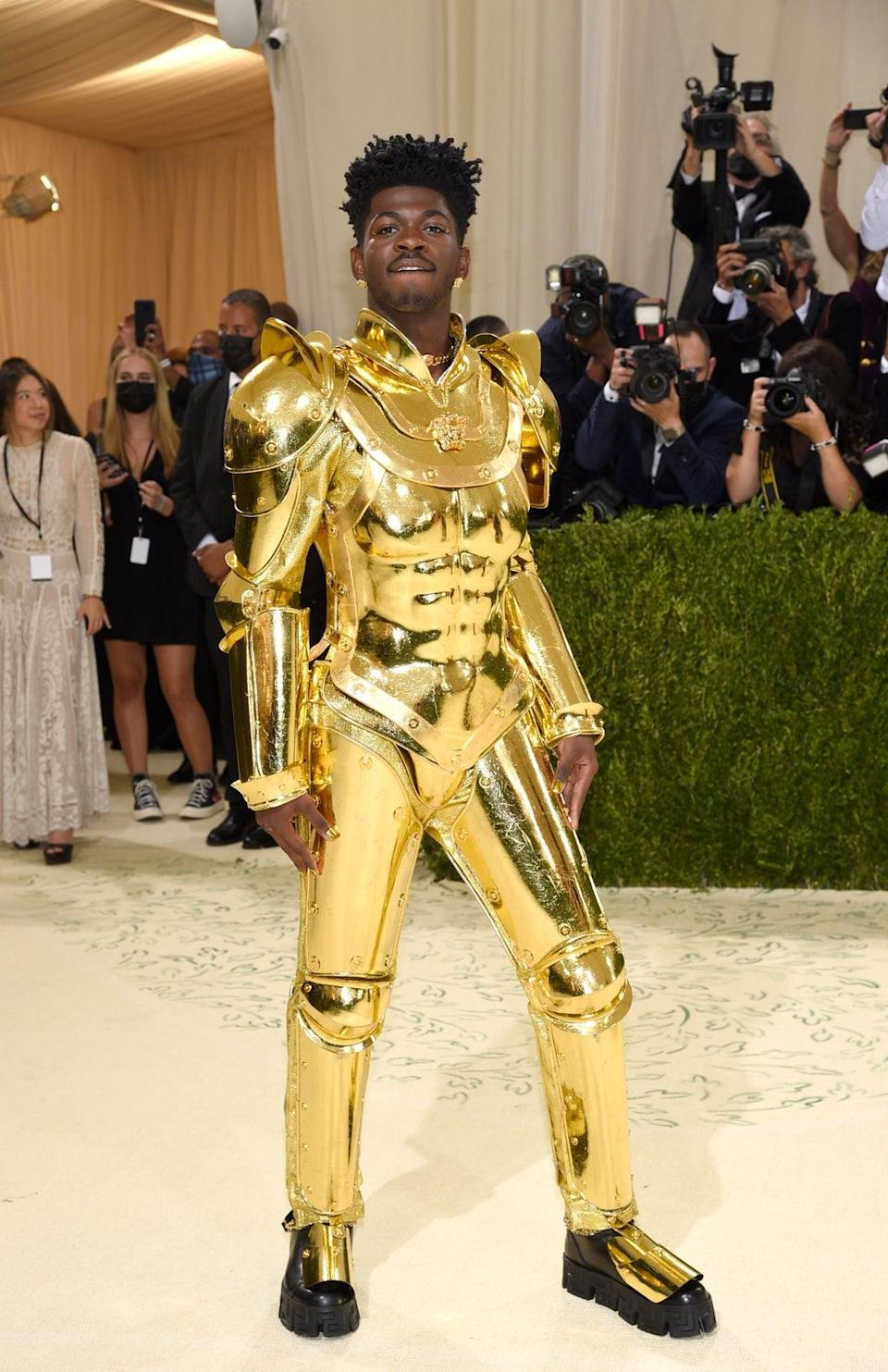 Lil Nas X was a golden vision at the Met Gala (Evan Agostini/Invision/AP) (AP)