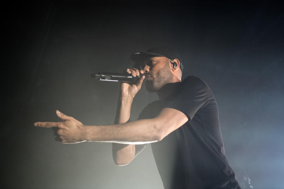 Kano performing on the YouTube presents stage at the Great Escape Festival, Brighton. (Photo by Victoria Jones/PA Images via Getty Images)