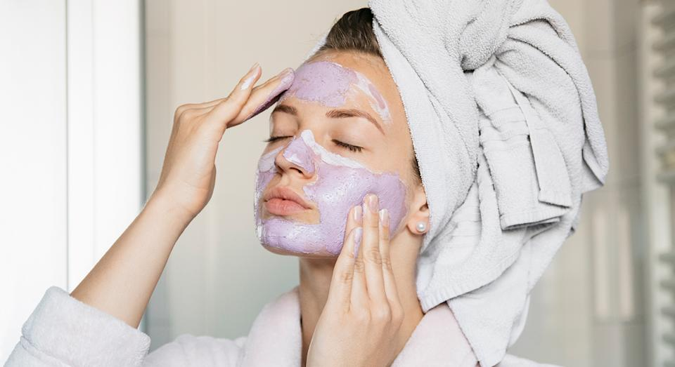 Enjoy a pamper with Caudalie's viral face mask, which works to tighten and unclog pores, as well as brighten the skin.  (Getty Images)