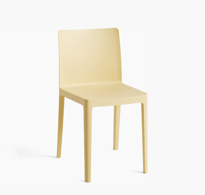 """This lovely little chair is designed by Ronan and Erwan Bouroullec for Hay, and it would be a great option for sitting inside or out. Plus, it's available in five other soothing colors. $95, Design Within Reach. <a href=""""https://www.dwr.com/kitchen-dining-chairs-benches/%C3%A9l%C3%A9mentaire-chair/2514637.html?lang=en_US"""" rel=""""nofollow noopener"""" target=""""_blank"""" data-ylk=""""slk:Get it now!"""" class=""""link rapid-noclick-resp"""">Get it now!</a>"""