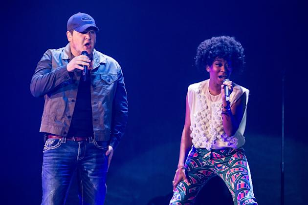 Dexter Roberts with Majesty Rose at the American Idol Live! tour kickoff (Photo by Brett Carlsen/Getty Images)