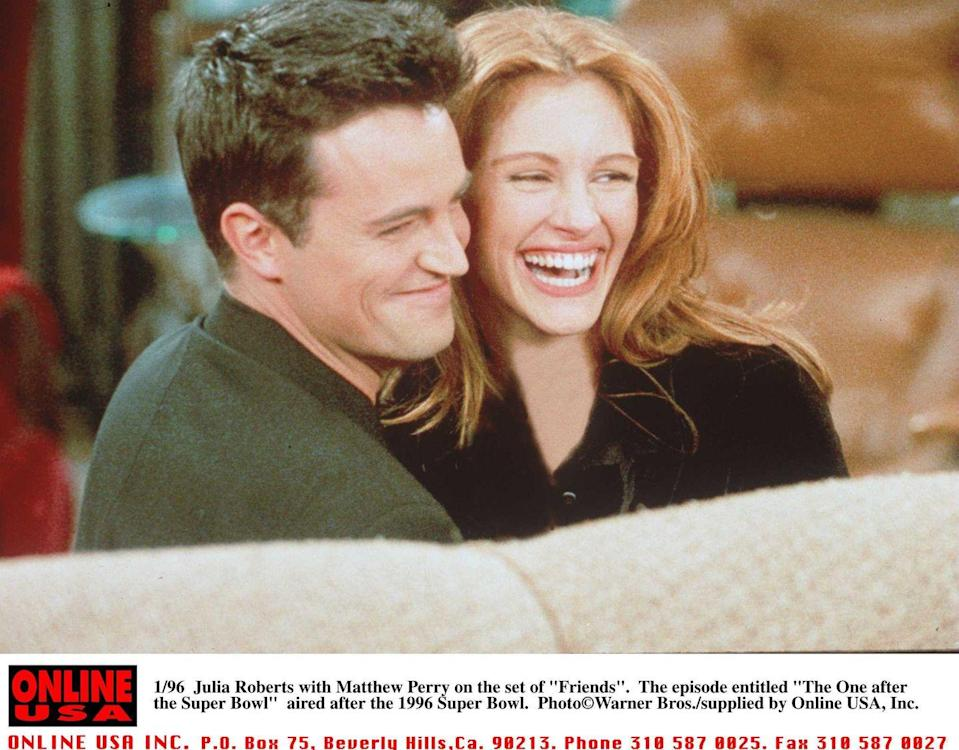 <p>Julia Roberts was one of Hollywood's biggest rising stars when she guest-starred as Susie Moss, a childhood friend of Chandler Bing who decides to ask him out in order to get even with him for embarrassing her when they were younger.</p>