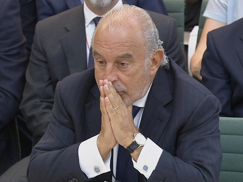 The Arcadia Group boss Sir Philip Green has been forced to pay £363m into the pension fund for BHS: UK Parliament via REUTERS