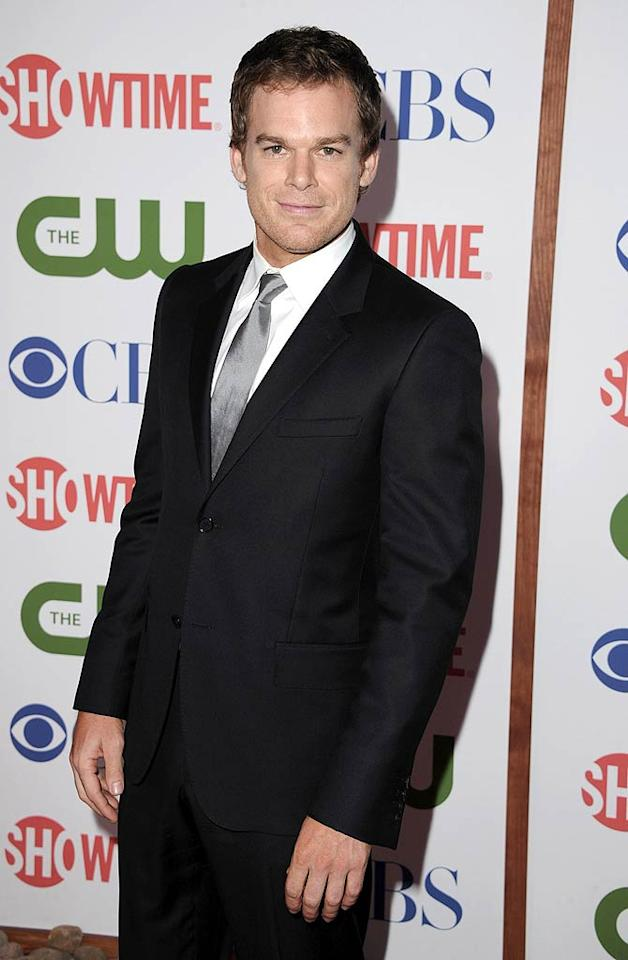 """Michael C. Hall, who will soon kick off his sixth season as the serial killer """"Dexter"""" on Showtime, looked dapper on the red carpet. He and co-star Jennifer Carpenter, who plays his sister on the show, married in December 2008, but announced they were splitting last year. Steve Granitz/<a href=""""http://www.wireimage.com"""" target=""""new"""">WireImage.com</a> - August 3, 2011"""